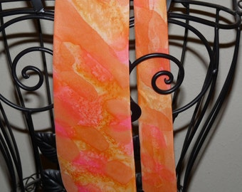 Hand Painted Silk Neck Tie Tequila Sunrise