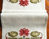 Waterlily Table Scarf Embroidery Kit