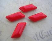 RESERVED for Elisa Set of 4 Vintage Red Glass Buttons