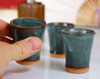 Slate Blue Shot Glass or Egg Cup- Made to Order