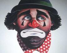 Vintage Large Emmet Kelly Clown Die Cut by Beistle