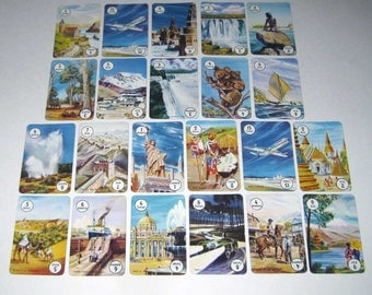 Vintage Round the World Playing Cards from Great Britain Set of 22 Lot B