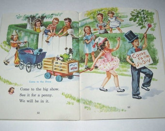 The Big Show Vintage 1940s School Reader or Text Book Illustrated by Corinne Malvern