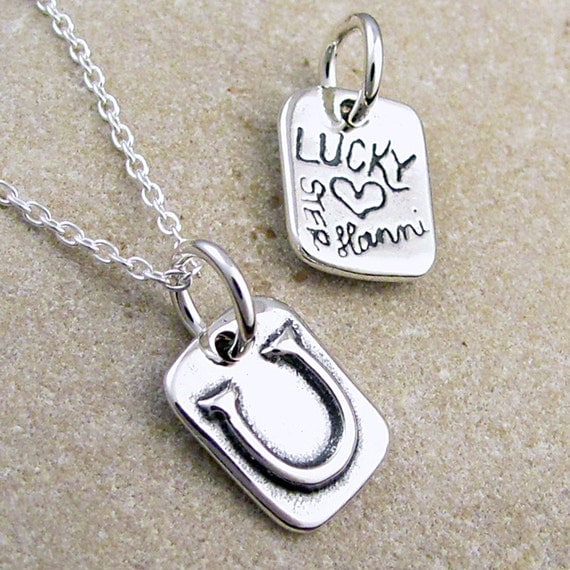 lucky charm horseshoe necklace