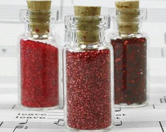 Bottles - Small Vials w/ Corks - Set of 6 - 310-1020