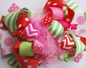 boutique FUNKY fun STRAWBERRY GIRL hair bow clip