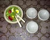 Dollhouse Miniature Salad bowl