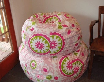 SPECIAL listing for EMILY an extra large bean bag UNFILLED with liner using Navy Sunbrella fabric you provide