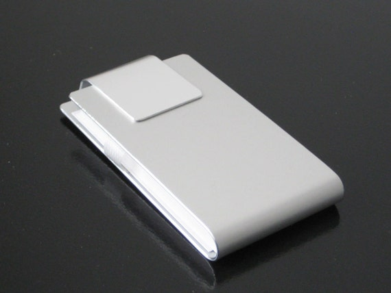 Contemporary Metal Business Card Case