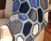 PATTERN ONLY Zen Hexagon Granny-Square Afghan, Throw, Blanket, .pdf download