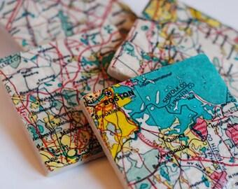Boston Map Coasters
