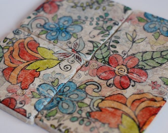 In Bloom - stone coaster set of 4