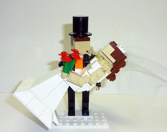 Custom Groom holding Bride Wedding Cake Topper