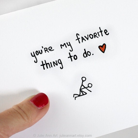Valentine Card. Youu0027re My Favorite Thing To Do. Black, Red,