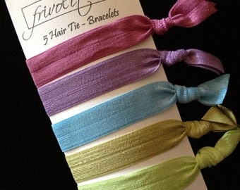 Knotted Elastic Hair Tie Ponytail Holder