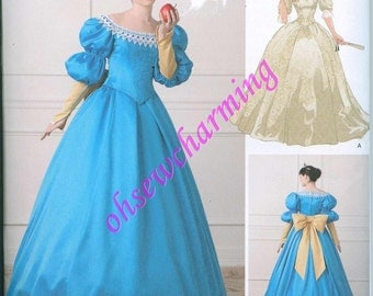 Simplicity 1728 NEW Ball Gown Princess Costume Pattern Snow White Mirror Mirror Dress Sizes 12-14-16-18-20