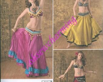 Beledi Belly Dancer Simplicity 2158 PATTERN Choli Genie Sizes 14-16-18-20-22 Gypsy Halter NEW