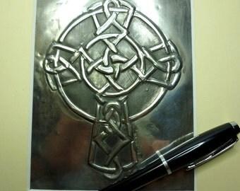 Celtic cross pewter wall decor