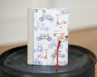 custom brag book photo album personalization in Sarah Jane vintage bicycle print