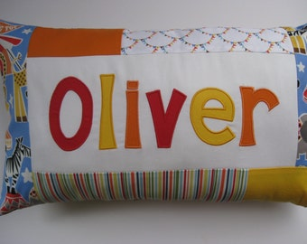 Custom Name Pillow - Your choice of fabric and colors