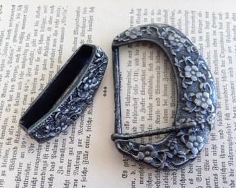 vintage inspired floral belt buckle