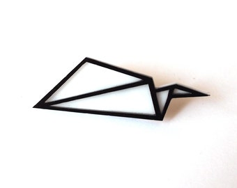 Glider Paper Airplane Pin