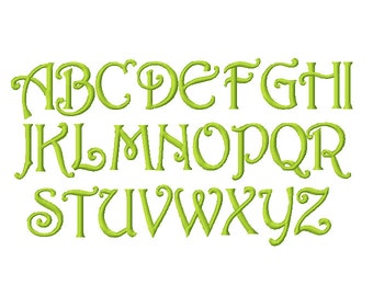 No.37 Rossetti Monogram Font only Embroidery Alphabet 1, 1.5, 2, 2.5, 3, and 4in INSTANT DOWNLOAD dst exp hus jef pes sew vip xxx & BX
