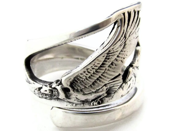 Vulture Spoon Ring size 5-10