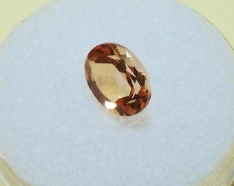 CITRINE -  Brazilian Origin - Light Golden Color - 8x6 Oval - GEM130006
