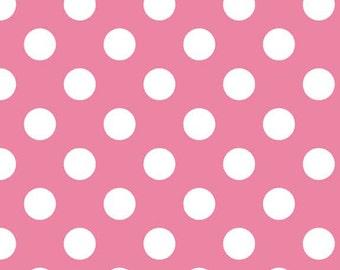 Riley Blake Hot Pink Dot Flannel Fabric, 1 yard