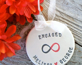 Personalized Infinity Engagement Gift Ornament