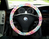 Colorful Leopard Steering Wheel Cover