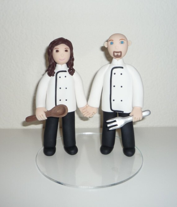 chef wedding cake toppers custom cake topper made to order chef by bluebutterflydesign 12633