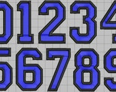 Varsity Numbers in 6 sizes