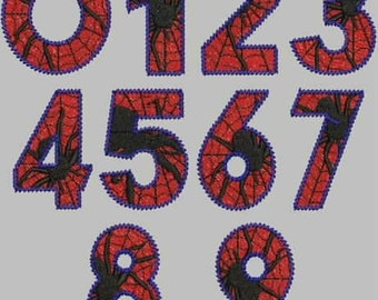 Arachnid Numbers Digitized Embroidery Collection