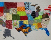 PDF Pattern USA Patchwork Map Full sized templates and clear instructions from Quilts by Elena