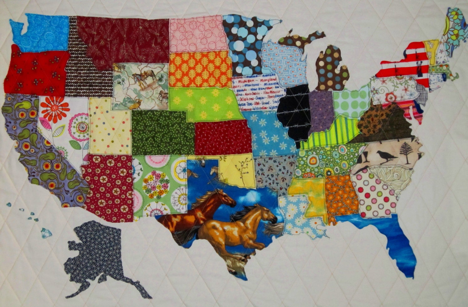 Usa Patchwork Map Quilt Pattern From Quilts By Elena Full