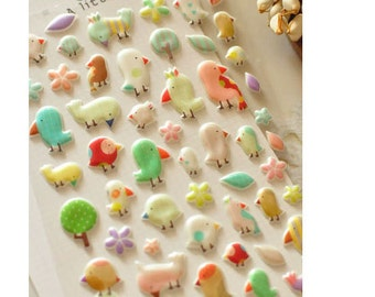 PVC Stickers (P164.20 - A Little Bird)