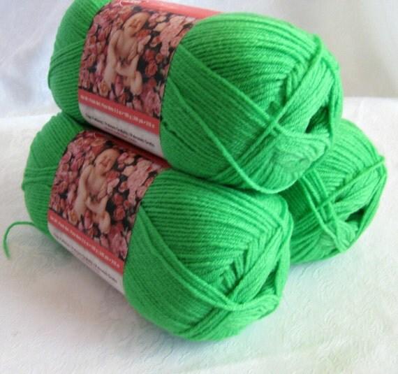 Anne Geddes Grass Green Yarn Sport Weight Yarn By By
