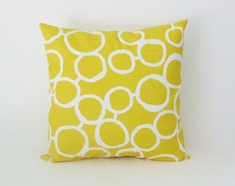 Decorative Pillow Cover Yellow Pillow Throw Pillow 8 Sizes Available Cushion Cover