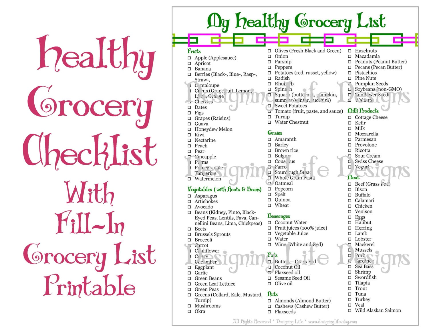 Printable Grocery Price List Grocery shopping list duo