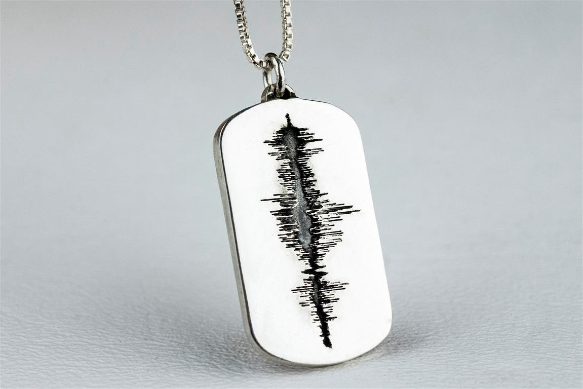 soundwave jewelry sound wave necklace jewelry soundwave personalized custom 763