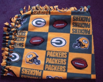 Packers NoSew Fleece Blanket Single Thickness