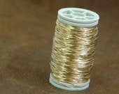 Gold filled wire , dead soft , 28g , 20 gram , crochet supplies , gold wire , 1/20 12k , 80ft 26 yard , jewelry making wire