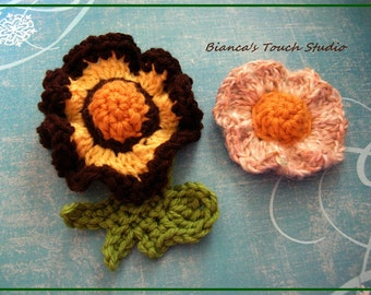 INSTANT DOWNLOAD Tutorial instructions in PDF format. Flower no.60, 61 with tiny leaf, brooch,hair holder