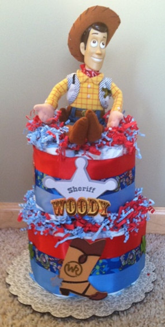 Toy Story Cakes For Boys : Items similar to diaper cake for boys disney toy story