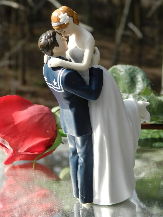 army man wedding cake topper usn navy sailor wedding cake topper pose 10823