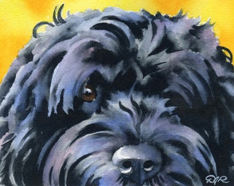 Portuguese Water Dog Art Print Signed by Artist DJ Rogers