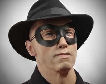 Incognito Leather mask in black size XL