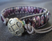 Purple Multi-colored Cuff Bracelet